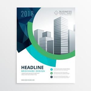 amazing blue brochure flyer template design for presentation